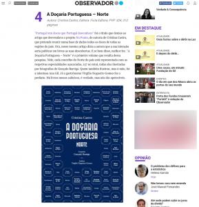 imprensa Jornal Observador A Doçaria Portuguesa · Norte