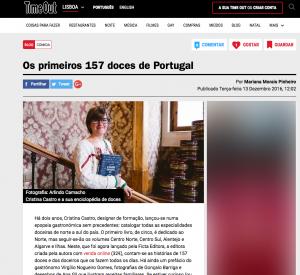 imprensa Time Out Lisboa, entrevista a Cristina Castro, autora de A Doçaria Portuguesa · Norte